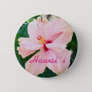 Hawaii Tropical Pink Flower Pinback Button