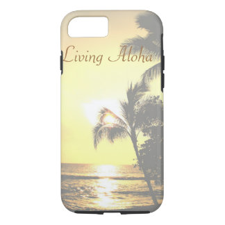 Hawaii Tropical Scene Living Aloha iPhone 7 Case