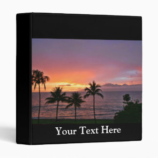 Hawaii Tropical Sunset on the Beach 3 Ring Binders
