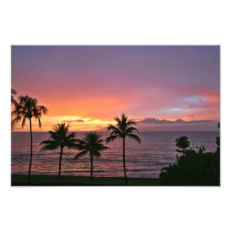 Hawaii Tropical Sunset on the Beach Photo Print