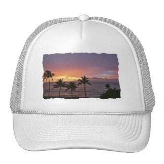 Hawaii Tropical Sunset on the Beach Trucker Hats