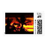 Hawaii Tropical Sunset Postage Stamp