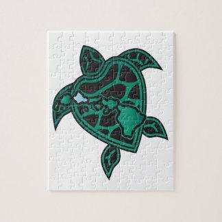 Hawaii Turtle and Hawaii Islands Jigsaw Puzzle