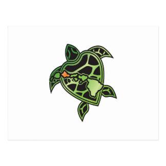Hawaii Turtle and Hawaii Islands Postcard