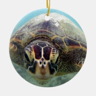 Hawaii Turtle Ceramic Ornament