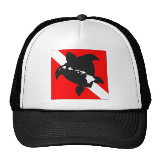 Hawaii Turtle Dive Flag Trucker Hat