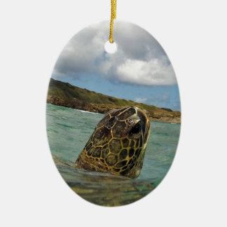 Hawaii Turtle Honu Ceramic Ornament