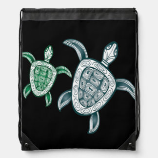 Hawaii Turtle - Honu Drawstring Bag