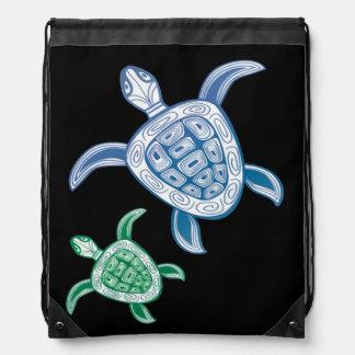 Hawaii Turtle - Honu Drawstring Bag