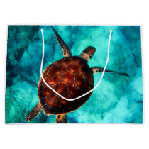 Hawaii Turtle Honu Large Gift Bag