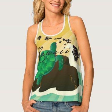 Hawaiian Themed Hawaii Turtle Tank Top