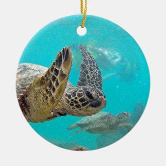Hawaii Turtles Ceramic Ornament