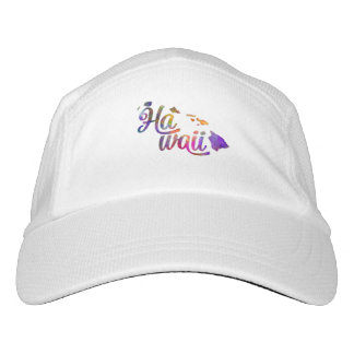 Hawaii U.S. State in watercolor text cut out Hat