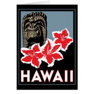 hawaii united states usa art deco retro travel card