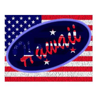 Hawaii US flag postcard