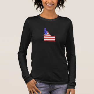 Hawaii USA silhouette state map Long Sleeve T-Shirt