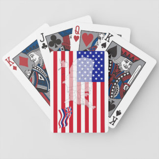 Hawaii-USA State flag map playing cards
