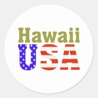 Hawaii USA! Round Sticker