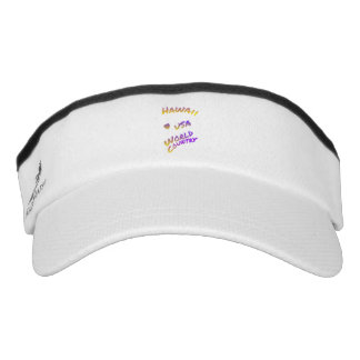 Hawaii USA World Country colorful text art, Visor