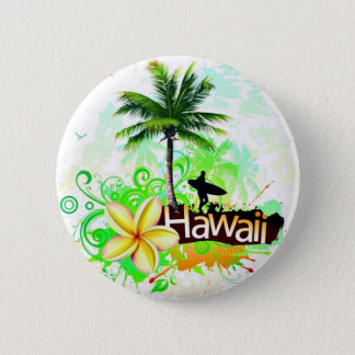 Hawaii Vacation Travel Souvenir Button