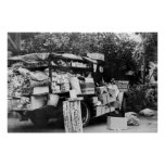 Hawaii - View of a Native Vegetable Wagon Poster