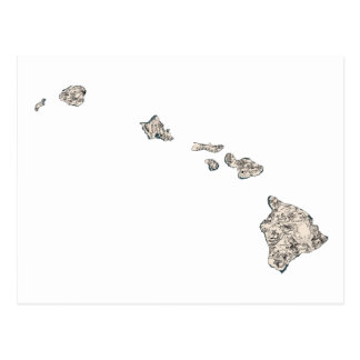 Hawaii Vintage Picture Map Postcard