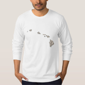 Hawaii Vintage Picture Map Shirt