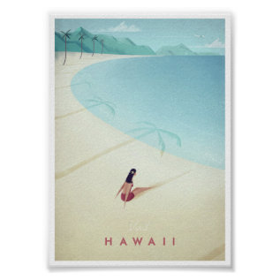 Hawaii Vintage Travel Poster at Zazzle