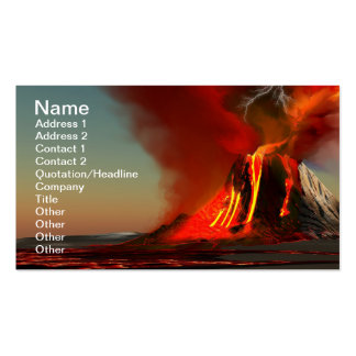 Hawaii Volcano Business Card