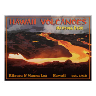 Hawaii Volcanoes Nationa Park Posters