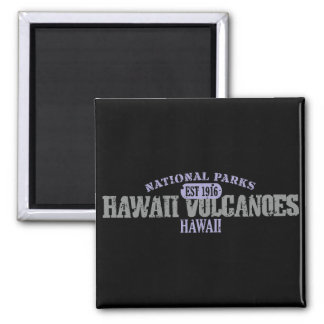 Hawaii Volcanoes National Park 2 Inch Square Magnet