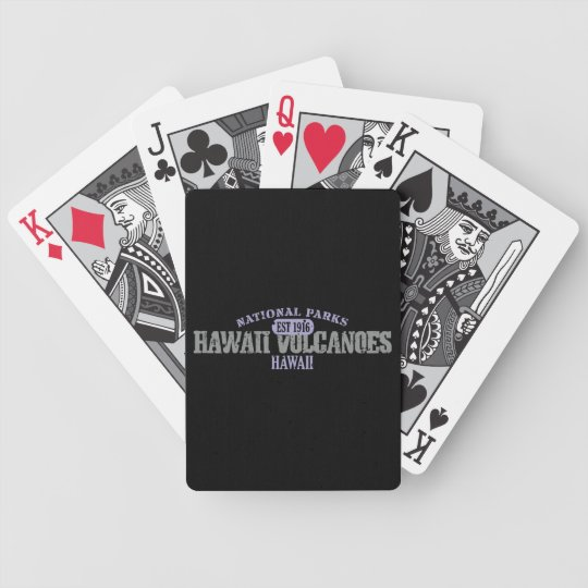 Hawaii Volcanoes National Park Bicycle Playing Cards