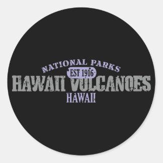 Hawaii Volcanoes National Park Classic Round Sticker