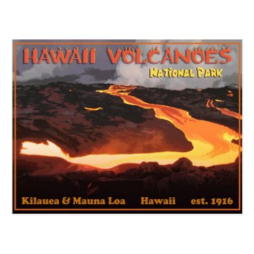 eurekaretro Hawaii Volcanoes National Park Postcard