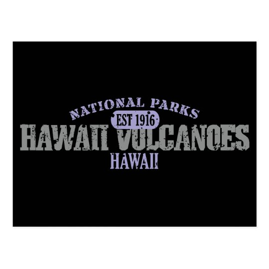 Hawaii Volcanoes National Park Postcard