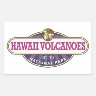 Hawaii Volcanoes National Park Rectangular Sticker