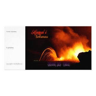 Hawai'i Volcanoes Vintage Style Photo Card
