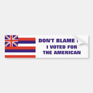 Hawaii: Votado por el americano Etiqueta De Parachoque