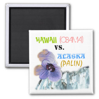 Hawaii vs. Alaska Square Magnet