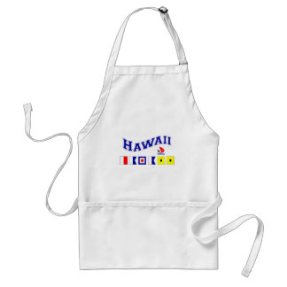 Hawaii w/ Maritime Flags Adult Apron