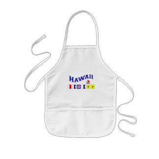 Hawaii w/ Maritime Flags Kids' Apron
