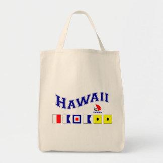 Hawaii w/ Maritime Flags Tote Bag