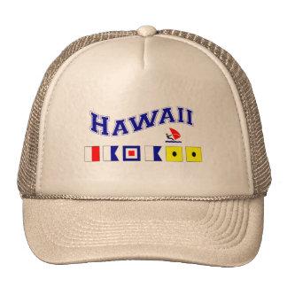Hawaii w/ Maritime Flags Trucker Hat