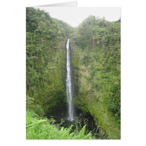 Hawaii Water Fall Greeting Card