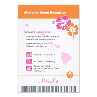Hawaii Wedding Boarding Pass Invites
