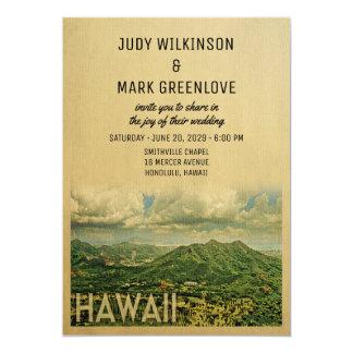 Hawaii Wedding Invitation Vintage Mid-Century