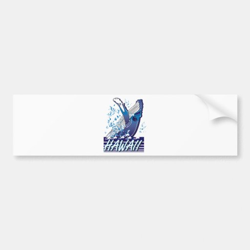 Hawaii-Whale Bumper Sticker