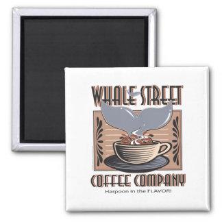 Hawaii Whale Street Coffee Company 2 Inch Square Magnet