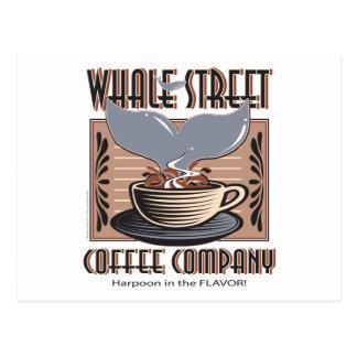 Hawaii Whale Street Coffee Company Postcard