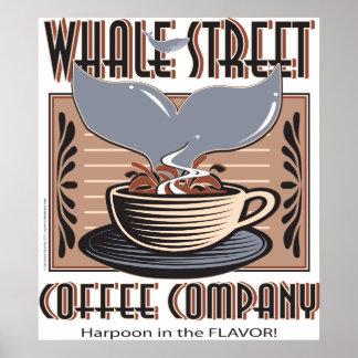 Hawaii Whale Street Coffee Company Poster
